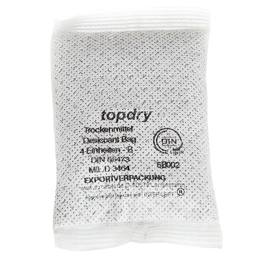 Top Dry® Desiccant Bags with Tyvek® casing technology