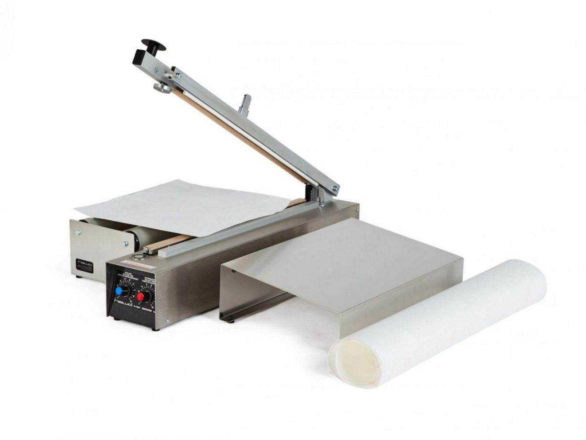 Table heat sealer with cutter